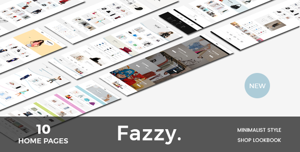 Fazzy - Lookbook Ecommerce PSD Template