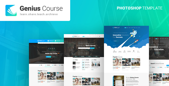Genius - Learning & Course PSD Template