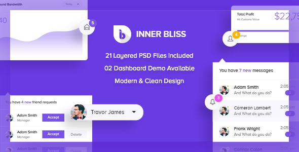 Inner Bliss - Creative Admin PSD Template