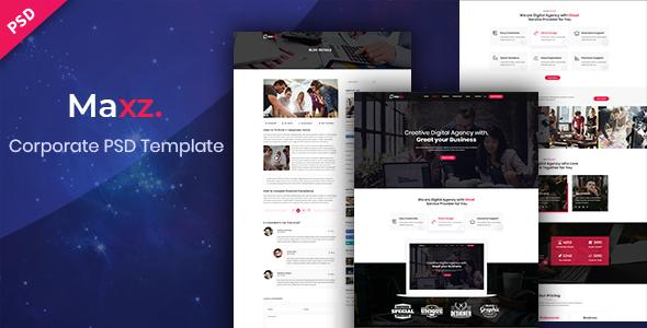 Maxz - Corporate PSD Template