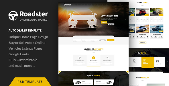 Roadster - PSD Template