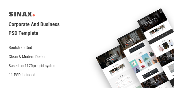 Sinax - Corporate And Business PSD Template