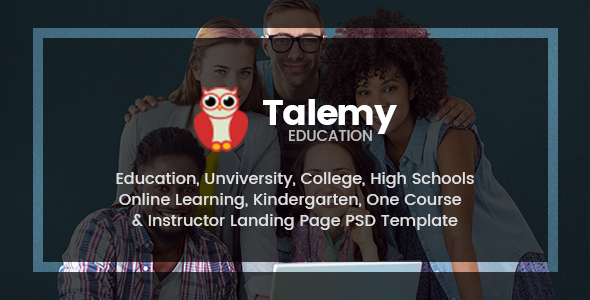 Talemy | Multipurpose Education PSD Template