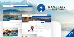 Travelair - Travel & Tours Psd Template