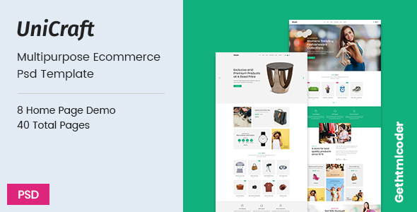 UniCraft - Multipurpose Ecommerce psd Template