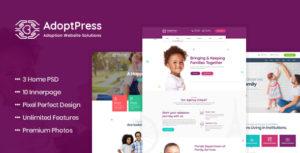 AdoptPress - Child & Pet Adoption Charity PSD Template