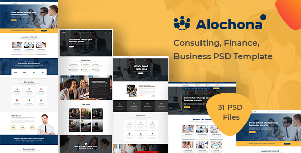Alochona - Consulting, Finance, Business PSD Template