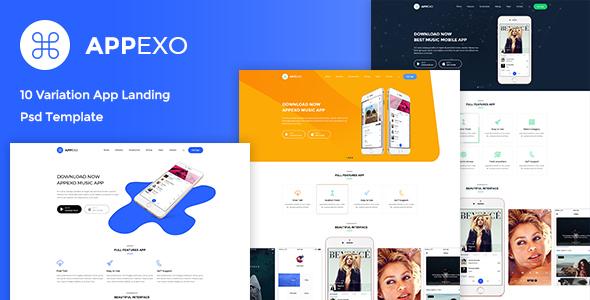 Appexo - App Landing PSD Template