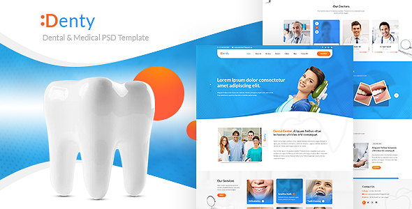 Denty | Dental & Medical PSD Template