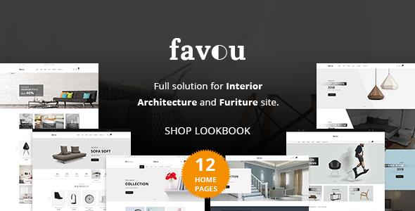 Favou - Furniture Ecommerce PSD Template