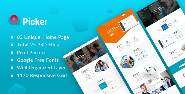 Picker - Startup and Agency PSD Template