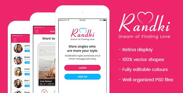 Randki - Dating Mobile App PSD