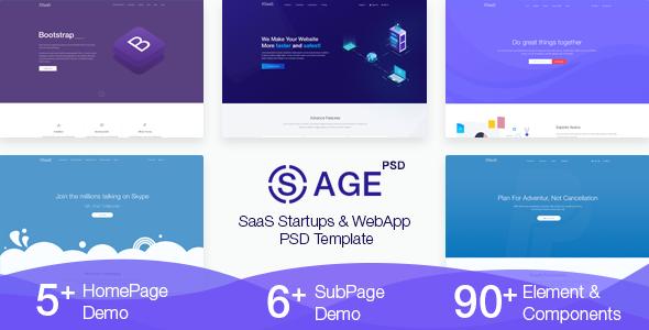 SaaSAge -  Multipurpose SaaS PSD Template