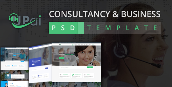 Upai - Consultancy and Business PSD Template