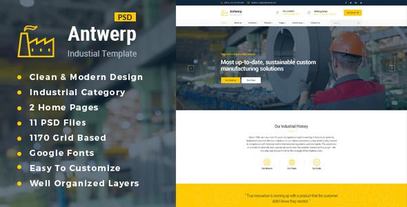 Antwerp : Industrial PSD Template