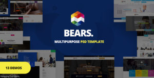 Bear's - Multi-Purpose Business PSD Template