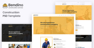 BendinG - Construction PSD Template