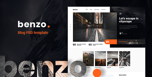 Benzo - Personal Creative Blog PSD Template