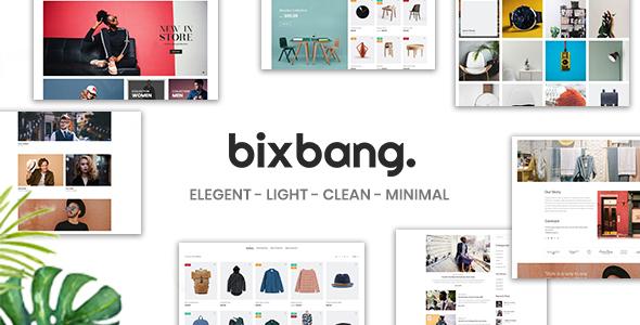 Bixbang | Minimalist eCommerce PSD Template