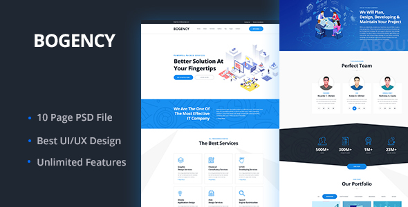 Bogency - Creative agency  PSD Template