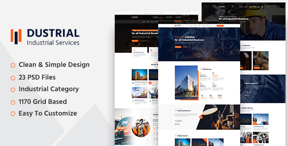 Dustrial - Industrial PSD Template