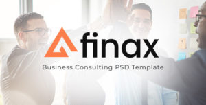 Finax | Business Consulting PSD Template