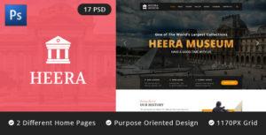 HEERA: Museum and Exhibition PSD website template
