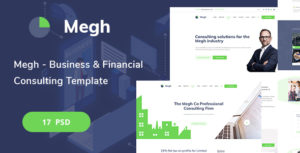 Megh - Business & Financial Consulting PSD Template
