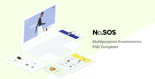 NeSos - Multipurpose Ecommerce PSD Template