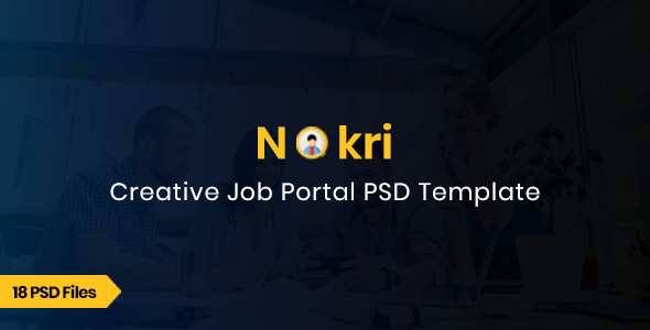 Nokri - Job Board PSD Template