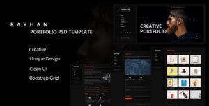 Rayhan - Modern & Creative Portfolio PSD Template