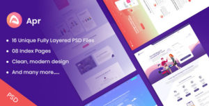 APR - Tech, Digital, Product Landing PSD Template