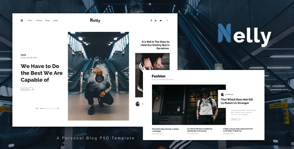 Nelly - Personal Blog PSD Template