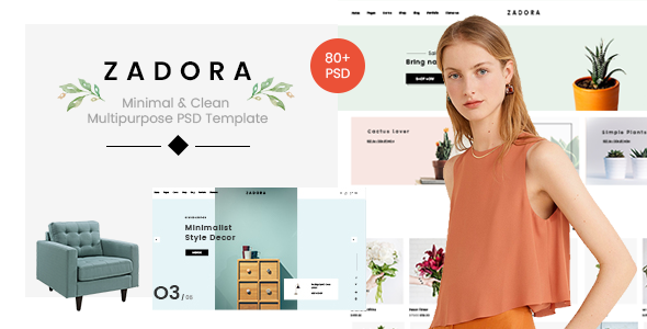 Zadora - Minimal & Clean Multipurpose PSD Template