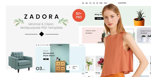 Zadora - Minimal & Clean Multipurpose PSD Template