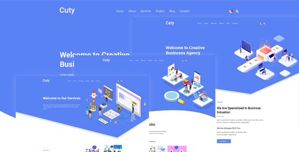 Cuty – Creative Multipurpose PSD Template