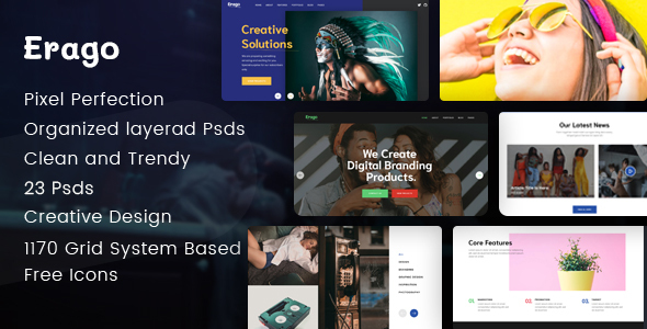 Erago - Startup and Creative Multipurpose PSD Template