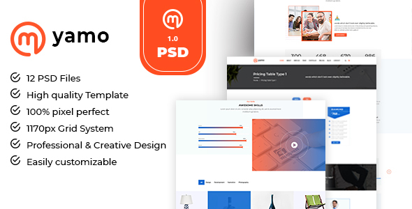 Myamo - Business & Corporate PSD Template