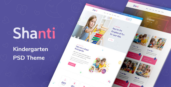 Shanti - Kindergarten and Preschool PSD Template
