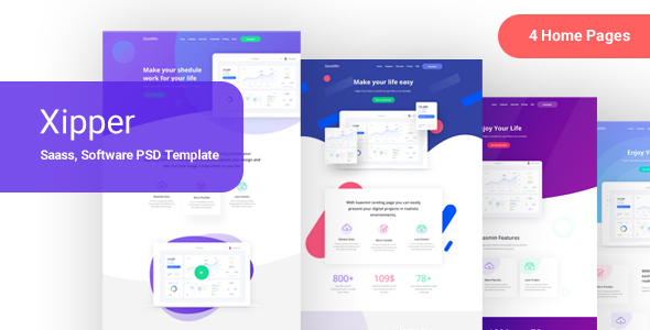 Xipper –  PSD Landing Page Template for App & Saas Products