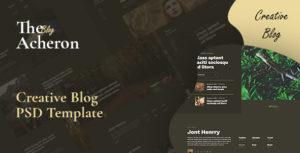 Acheron - Creative blog PSD Template