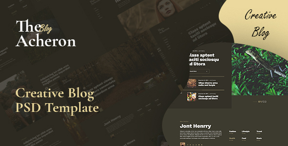 Acheron - Creative blog PSD Template