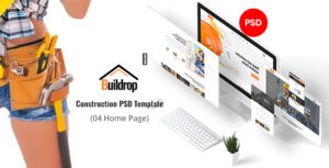 Buildrop - Construction PSD Template
