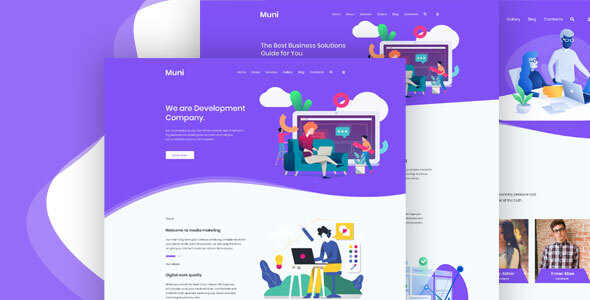 Muni – Business & Agency PSD Template