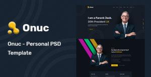 Onuc - Personal PSD Template
