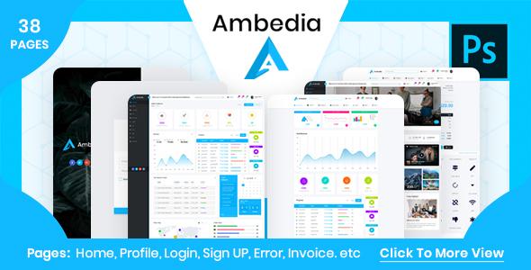 Ambedia - Admin Dashboard PSD Template