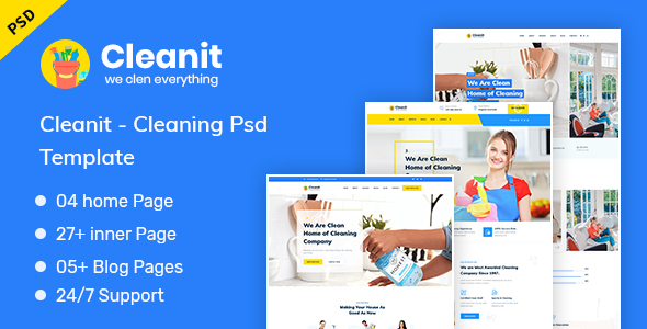 Cleanit - Cleaning PSD Template