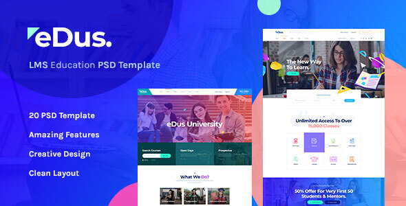 Edus - LMS & Online Education Learning PSD Template