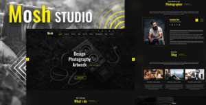 Mosh - Photographer One Page PSD Template