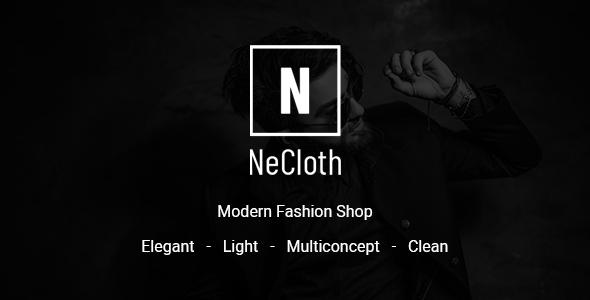 NeCloth - Multi-purpose eCommerce PSD Temlate